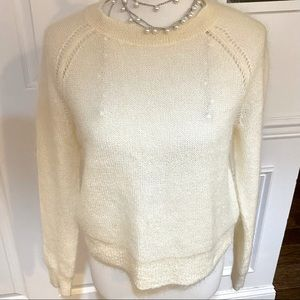 Banana Republic Mohair Cream Cropped Sweater, Med.